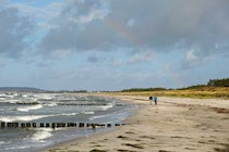 Hiddensee: 22. Photo: Regenbogenschimmer